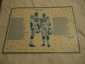 Gino-Marchetti-amp-Bill-Pellington-Baltimore-Colts-laminated-placemat-1960-039-s