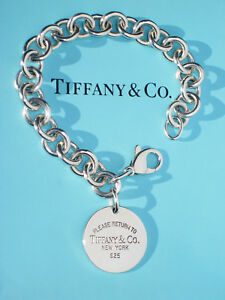 26f00abba Tiffany & Co Return to Tiffany Sterling Silver Round Circle Tag ...