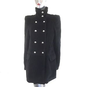 Neck Coat Blogger Black Chic Funnel 12 Yumi Military Style Dobbeltbrystet ~ O15qYwA