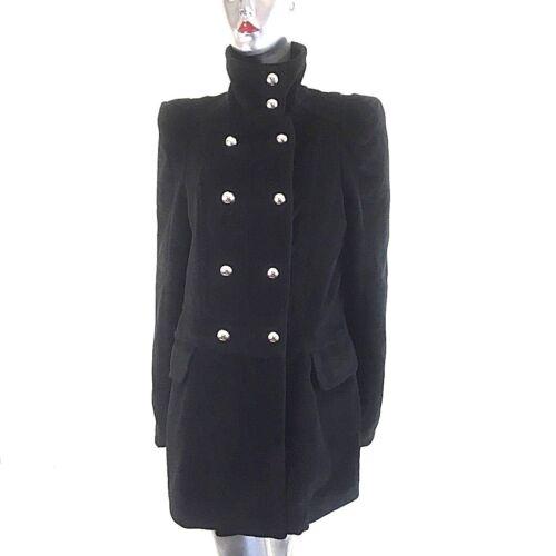 Coat Funnel Neck Yumi Black ~ Blogger Chic Military 12 Style Dobbeltbrystet 5XwAFq4