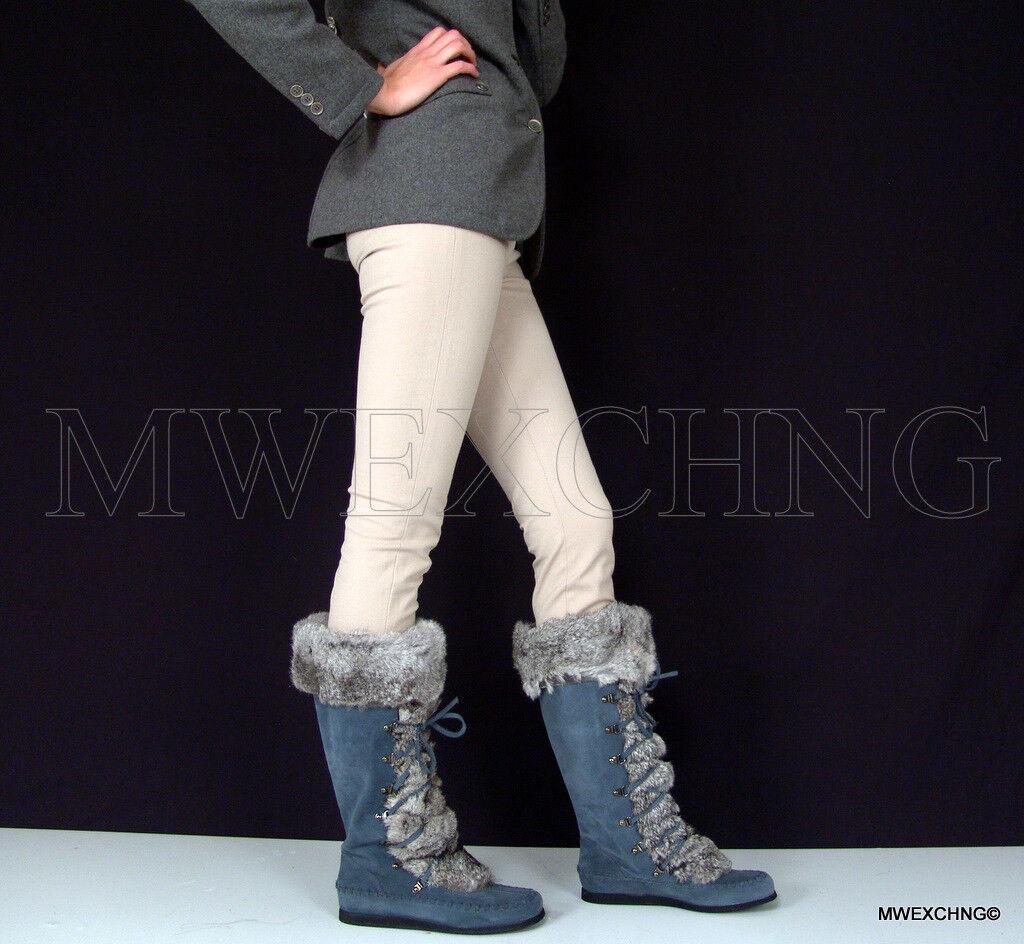 Cesare PACIOTTI Moda Para Para Para mujeres botas De Gamuza mukluks natural Conejo Adorno EU 41  tienda hace compras y ventas