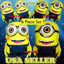 6 pcs DESPICABLE ME MINION ( Dave n Stuard )BALLOON BIRTHDAY PARTY SUPPLIES