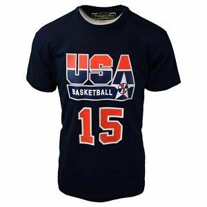 Mitchell-amp-Ness-Men-039-s-Johnson-15-USA-Basketball-Dream-Team-S-S-T-Shirt