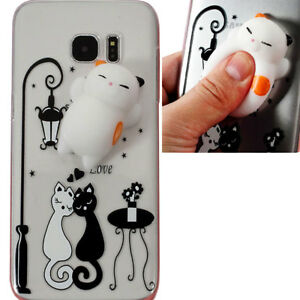 Custodia-3D-SQUISHY-Cat-in-Love-per-Samsung-Galaxy-S7-Edge-G935F-cover-case-TPU