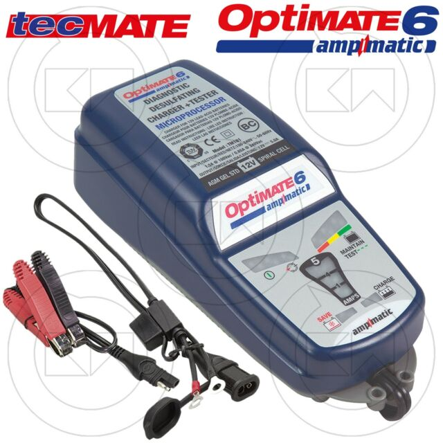 Nouveau Chargeur Mainteneur Universel Pour Moto tecmate optimate 6 Ampmatic™