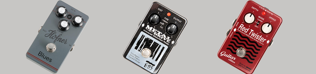 Shop Event Up to 60% Off Effects Pedals EBS, Hoffner, & more from Proaudiostar.