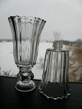 2 Home Interiors Homco Royal clear glass Votive Candle holders Sconce Cups