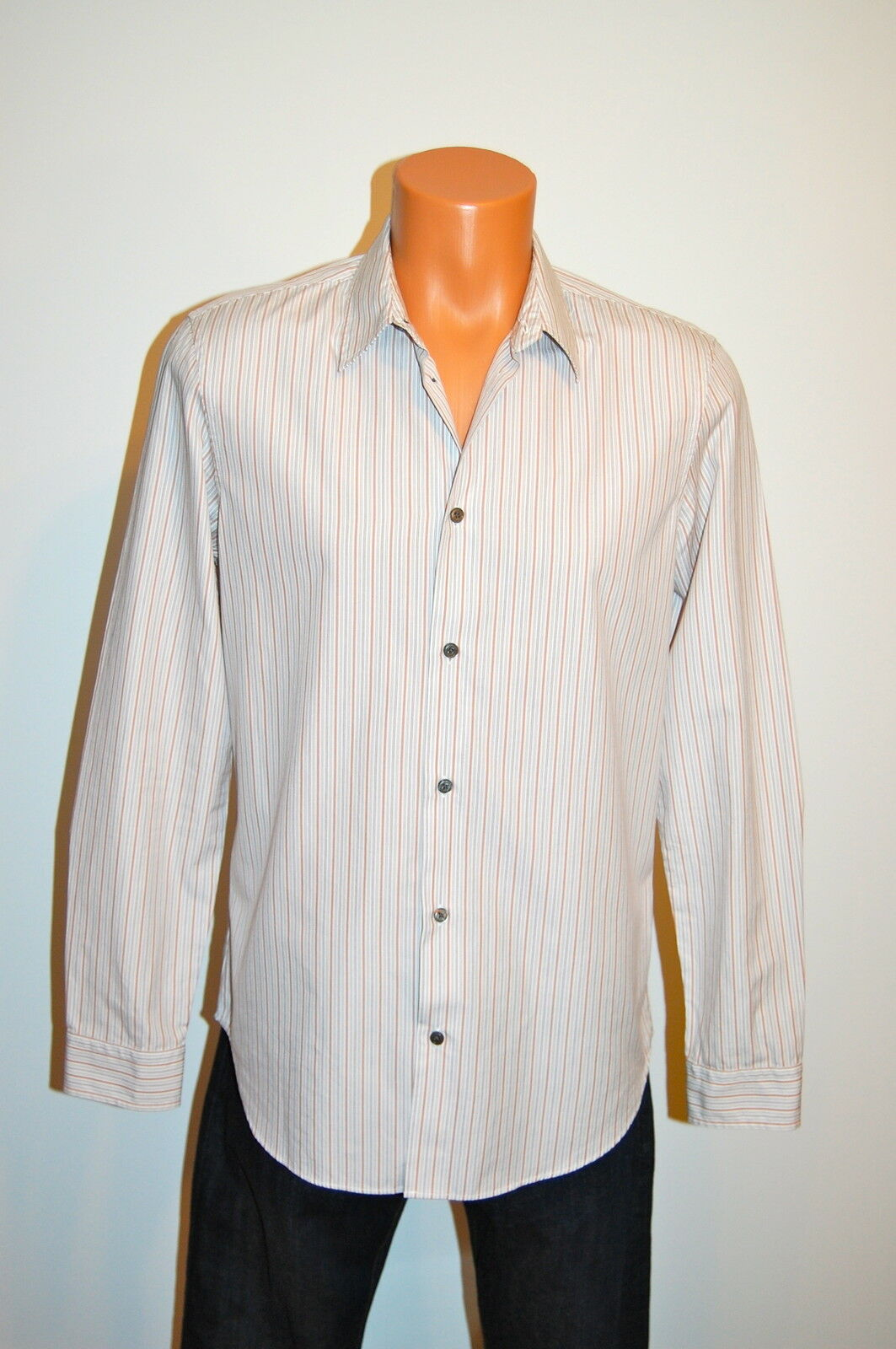 New  Marc by Marc Jacobs Classic Fit Small Striped LS Button Down White S
