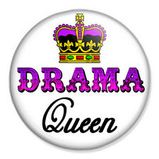 """Drama Queen 25mm 1"""" Pin Button Badge Diva Crown Actress"""