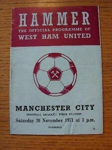 20111971 West Ham United v Manchester City  Folded Item In very good condit - <span itemprop=availableAtOrFrom>Birmingham, United Kingdom</span> - Returns accepted within 30 days after the item is delivered, if goods not as described. Buyer assumes responibilty for return proof of postage and costs. Most purchases from business s - Birmingham, United Kingdom