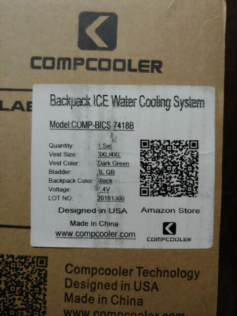 Compcooler 3x/4× personal cooling system camelback. JUST IN TIME FOR SUMMER !