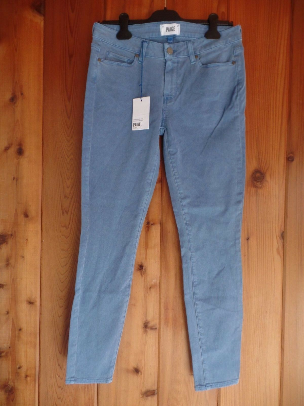 New Paige Verdugo ankle cyan bluee jeans Size 30