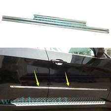 4*Stainless Steel Body Side Door Molding Trim Garnish For BMW X5 E70 2008-2013