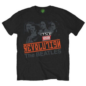 The-Beatles-Revolution-Back-in-the-USSR-Official-Rock-Music-Black-Mens-T-shirt