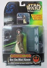 Star Wars Electronic Ben Obi-Wan Kenobi POTF Deluxe Action Figure 1996