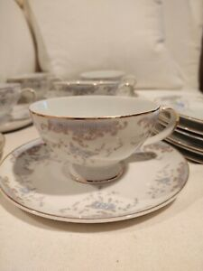 """Imperial China W Dalton Seville (6) Cups, 2 1/4"""" & (6) Saucers, 6 1/4"""""""