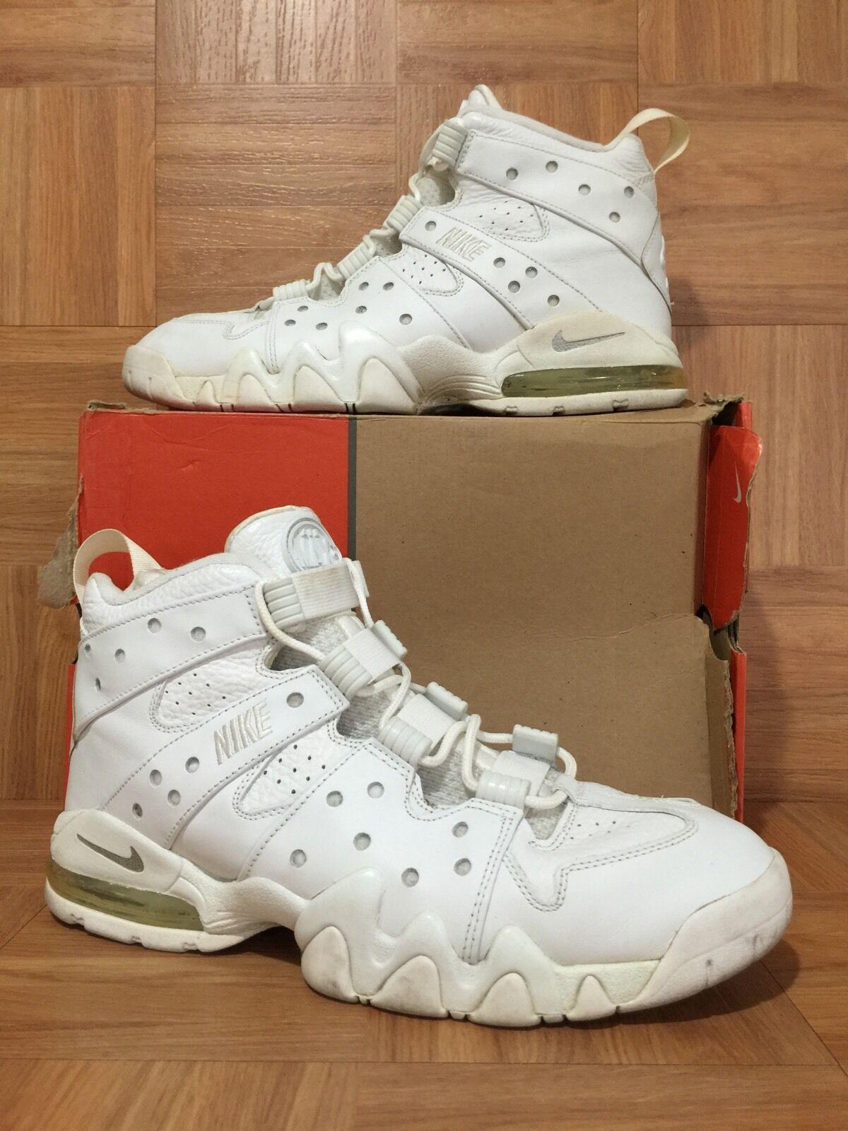 RARE Nike Air Max II CB '94 Charles Barkley White Metallic Size 12 305440-111