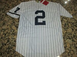 los angeles 517a7 53c96 Details about NEW!!! Derek Jeter New York Yankees White Stitched Pinstripe  Baseball Jersey XL