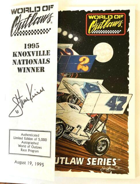 Vintage World of Outlaws 1995 Knoxville Nationals Souvenir Program Sprint Cars