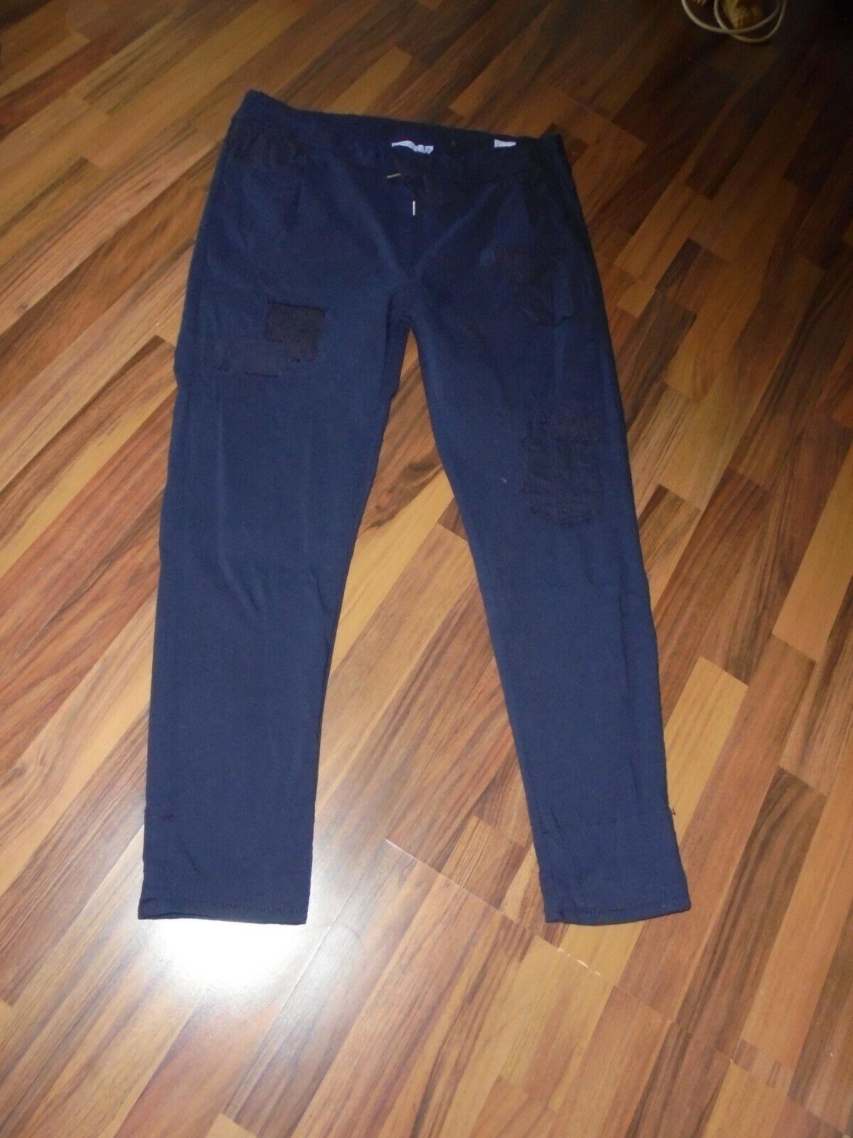 ♥ Zukauf Tredy Hose Gr. 4 dunkelblau mit Flicken