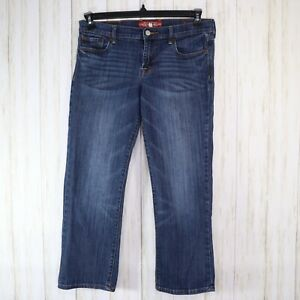 Lucky-Brand-Blue-Sweet-n-Crop-Jeans-Womens-6-28-Stretch-Denim-Cropped