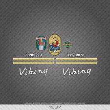 """01337 Viking """"Conquest"""" Bicycle Stickers - Decals - Transfer"""