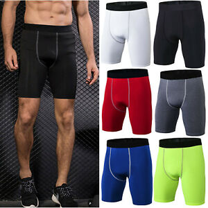 ac3ea9025 Image is loading Mens-Compression-Sports-Gym-Tight-Shorts-Base-Layer-