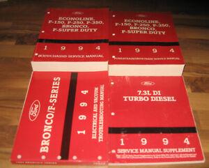 1994 FORD TRUCK Service Shop Manual F150 F250 F350 SD ...