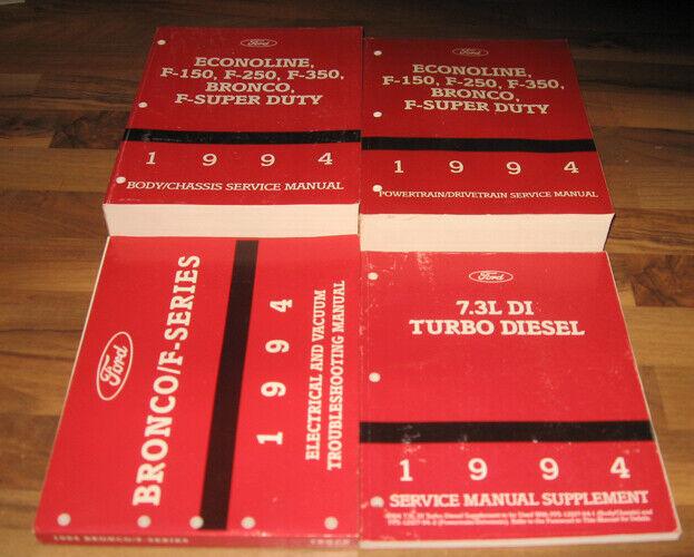 1994 FORD TRUCK Service Manual Set F150 F250 F350 SD ...