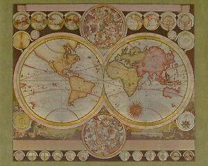 World Map By Peter Schenk The Elder.Dufex Foil Picture Print World Map By Peter Schenk The Elder 8