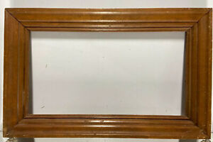 VTG-Mid-Century-Wood-Picture-Frame-Fits-9-034-x-16-1-2-034