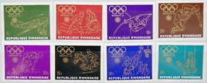 RWANDA-RUANDA-1971-455-62-A-414-21-Olympics-1972-Muenchen-Munich-Sport-MNH