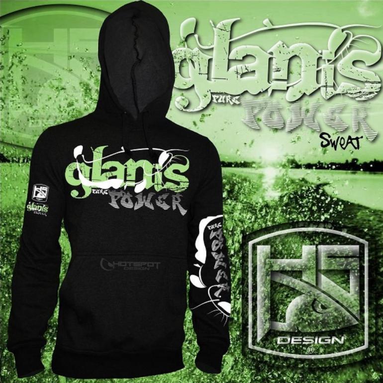 Hotspot Design Unisex-Sweat GLANIS - PURE POWER, Hoody, Kapuzensweater