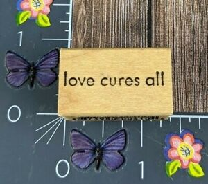 Be Stampin Loves Cures All Light Rubber Stamp Wood Mount Print #C59