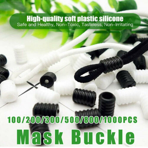 Silicone Ends Fastener for Drawstrings Adjuster 1000X Face Cover Cord Locks Soft