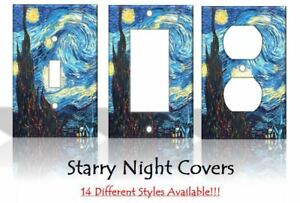 Starry Night Vincent Van Gogh Painting Light Switch Covers