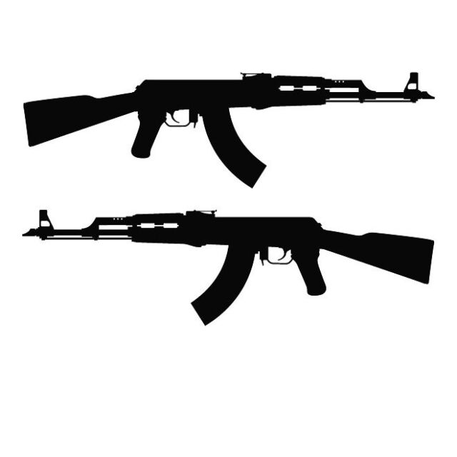 rifle and ak silhouette car decal sticker ebay