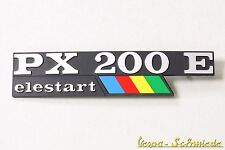 """VESPA Emblem Schriftzug Seitenhaube """"PX200E elestart Arcobaleno"""" PX 200 E Lusso"""