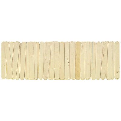 50Stk DIY Bunt Bastelhölzer Eisstiele Holzstäbe Holz Holzspatel 11cm 15cm