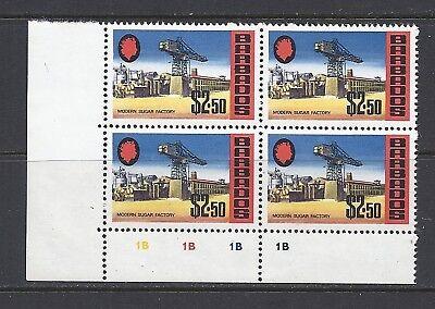 Barbados 1970 Sg 413a $2.50 Glasiertem Papier Block/4 Mnh