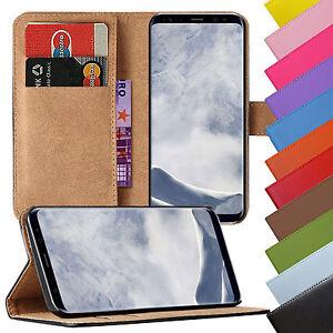 Book-Case-Handy-Huelle-aus-Kunstleder-fuer-Samsung-Galaxy-Handy-Tasche-Schutzhuelle