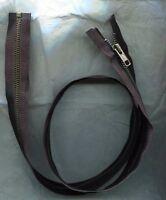 30 Inch Black & Antique Brass Metal 5 Ykk Zipper Separating