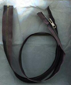 30-inch-Black-amp-Antique-Brass-Metal-5-YKK-Zipper-Separating-New