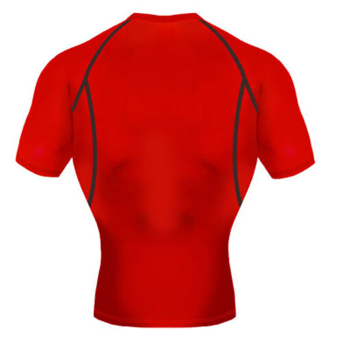 Take Five Mens Skin Tight Compression Base Layer Running Shirt S~2XL Red NT057
