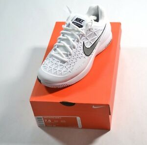6a5c444a52 Nike ZOOM CAGE 2 White Metallic Silver 705247-100 Men s Tennis Shoes Men s  Shoes
