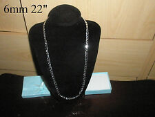 Quality Silver Plated No Stone Chain Necklace & Gift Bag for Men's Birthday Xmas