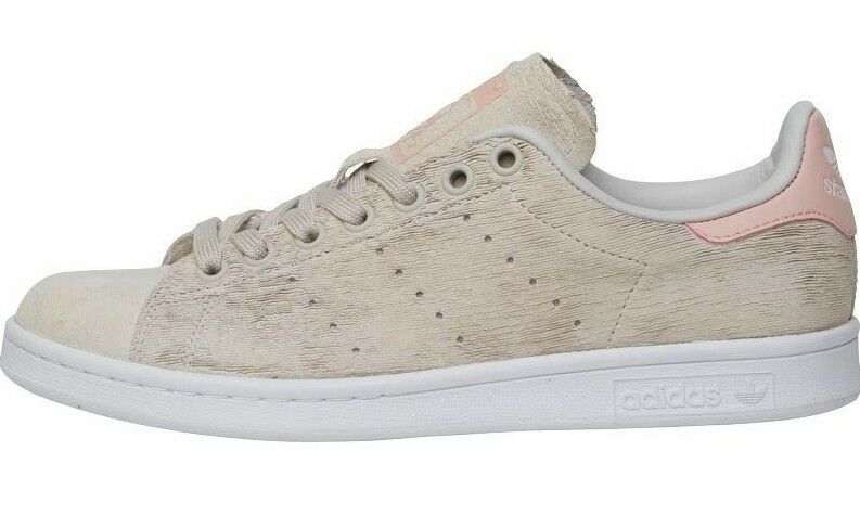 Adidas Originals Stan Smith Womens Trainers Pearl Grey White Pink Size 4.5-7.5