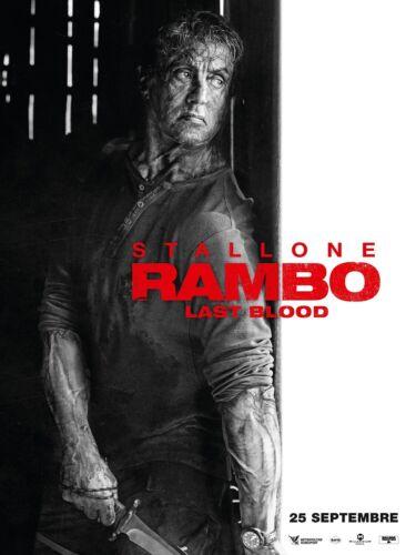 "Rambo Last Blood Poster 48x32/"" 40x27/"" 36x24 2019 V Sylvester Stallone Print Silk"