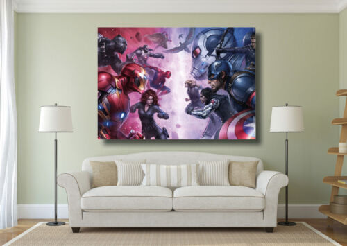 A0 A1 A2 A3 Maxi Ironman Captain America Large Poster Wall Art Print