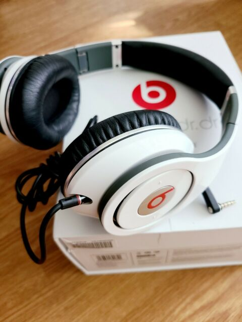 Beats By Dr Dre Studio Wired Headband Headphones White Used Pre Owned For Sale Online